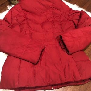 Guess Jackets & Coats - GUESS Red Puffer Coat with Fur Hood